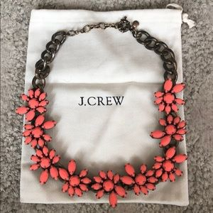J.crew flower necklace. Coral and brass